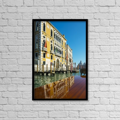 """Printscapes Wall Art: 12"""" x 18"""" Canvas Print With Black Frame - Travel by Mats Silvan"""