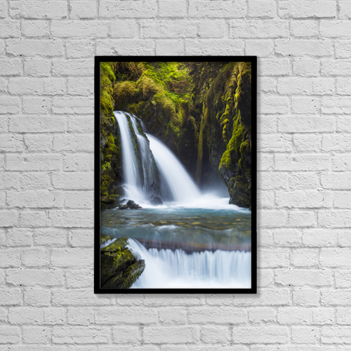 """Printscapes Wall Art: 12"""" x 18"""" Canvas Print With Black Frame - Virgin Creek Falls by Michael DeYoung"""