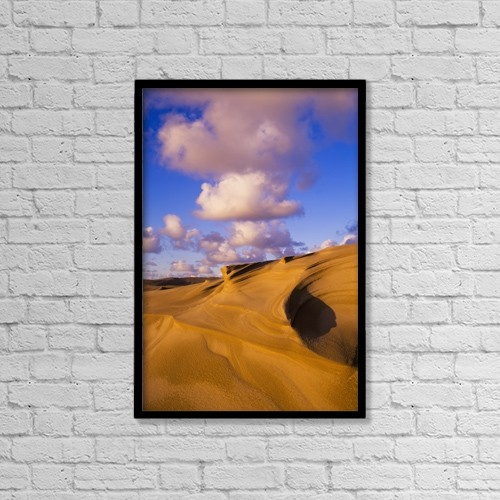 "Printscapes Wall Art: 12"" x 18"" Canvas Print With Black Frame - Clouds And Dunes Are Shape-Shifters by Robert L. Potts"