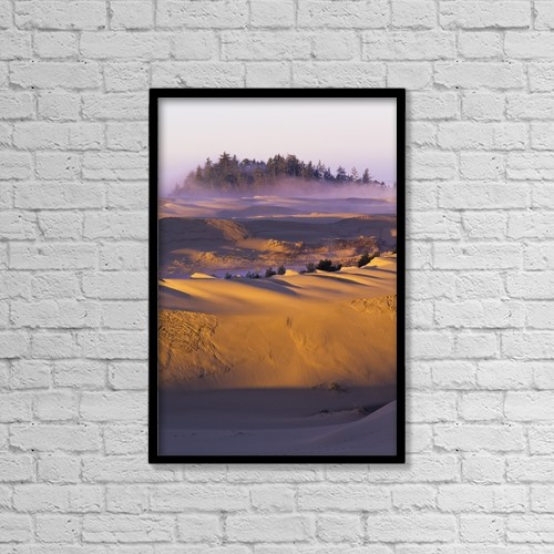 "Printscapes Wall Art: 12"" x 18"" Canvas Print With Black Frame - Morning Sun Warms The Dunes by Robert L. Potts"