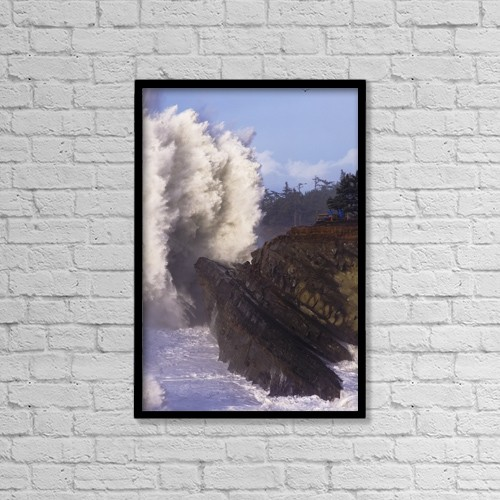 "Printscapes Wall Art: 12"" x 18"" Canvas Print With Black Frame - People by Robert L. Potts"