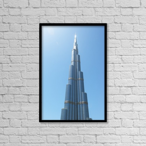 "Printscapes Wall Art: 12"" x 18"" Canvas Print With Black Frame - Detail Of The Burj Khalifa by Ian Cumming"