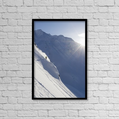 """Printscapes Wall Art: 12"""" x 18"""" Canvas Print With Black Frame - Lifestyle by Scott Dickerson"""