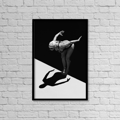 """Printscapes Wall Art: 12"""" x 18"""" Canvas Print With Black Frame - Lifestyle by Ben Welsh"""