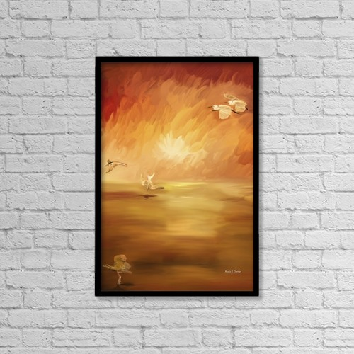 "Printscapes Wall Art: 12"" x 18"" Canvas Print With Black Frame - Artwork and Paintings by Angela A Stanton"