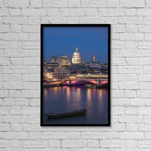 """Printscapes Wall Art: 12"""" x 18"""" Canvas Print With Black Frame - St by Charles Bowman"""