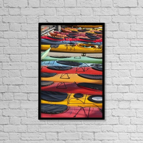 """Printscapes Wall Art: 12"""" x 18"""" Canvas Print With Black Frame - Nautical by Kevin G. Smith"""