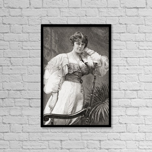 """Printscapes Wall Art: 12"""" x 18"""" Canvas Print With Black Frame - Dame Irene Vanbrugh, 1872 by Ken Welsh"""