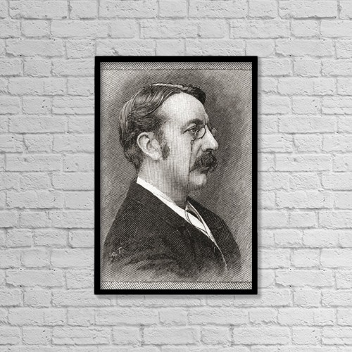 "Printscapes Wall Art: 12"" x 18"" Canvas Print With Black Frame - Sir Charles Villiers Stanford, 1852 by Ken Welsh"