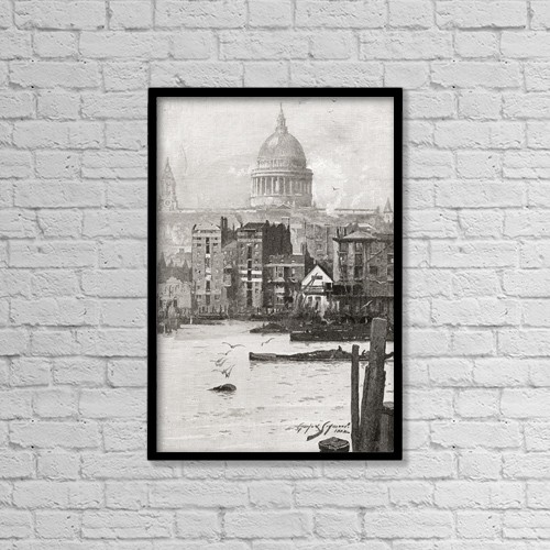 "Printscapes Wall Art: 12"" x 18"" Canvas Print With Black Frame - St by Ken Welsh"