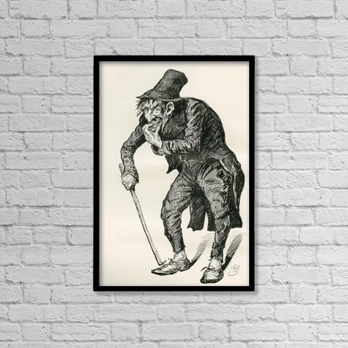 """Printscapes Wall Art: 12"""" x 18"""" Canvas Print With Black Frame - Quilp by Ken Welsh"""
