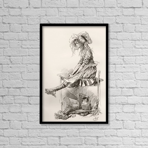 """Printscapes Wall Art: 12"""" x 18"""" Canvas Print With Black Frame - The Marchioness by Ken Welsh"""