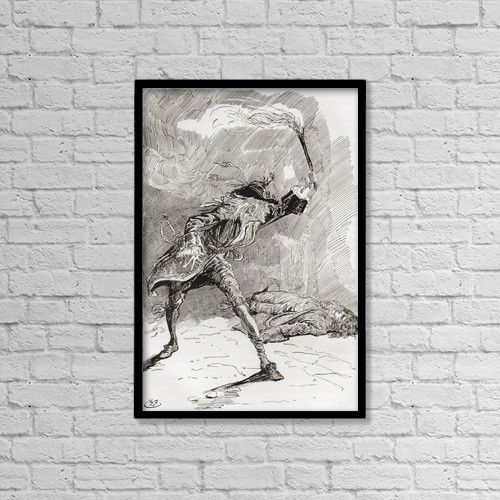 """Printscapes Wall Art: 12"""" x 18"""" Canvas Print With Black Frame - Barnaby Finds Edward by Ken Welsh"""