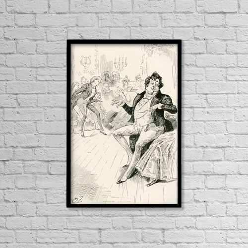 """Printscapes Wall Art: 12"""" x 18"""" Canvas Print With Black Frame - The Turveydrops, Senior And Junior by Ken Welsh"""
