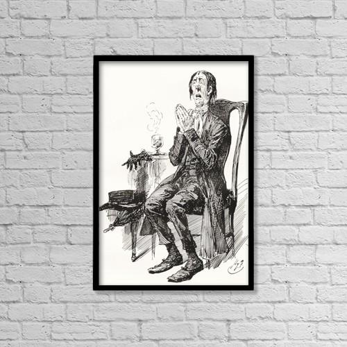 "Printscapes Wall Art: 12"" x 18"" Canvas Print With Black Frame - Stiggins by Ken Welsh"