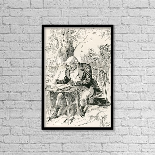 "Printscapes Wall Art: 12"" x 18"" Canvas Print With Black Frame - Mr by Ken Welsh"