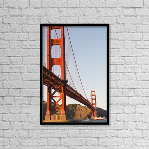 "Printscapes Wall Art: 12"" x 18"" Canvas Print With Black Frame - Architectural Exteriors by Harry M. Walker"