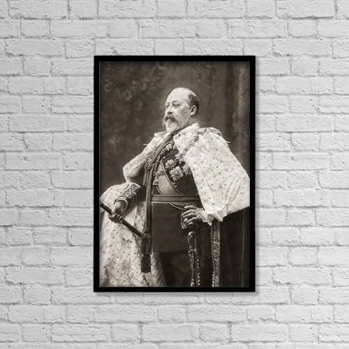 "Printscapes Wall Art: 12"" x 18"" Canvas Print With Black Frame - Edward Vii , 1841 by Ken Welsh"