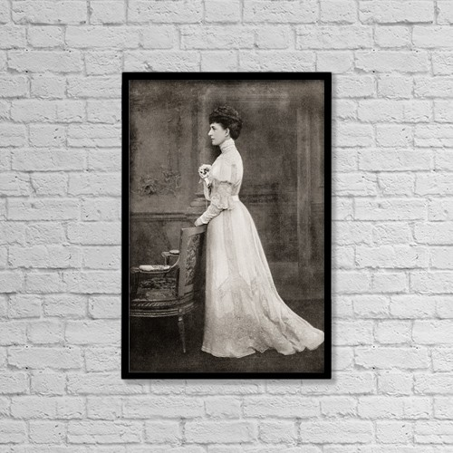 "Printscapes Wall Art: 12"" x 18"" Canvas Print With Black Frame - Alexandra Of Denmark, 1844 by Ken Welsh"