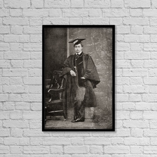 """Printscapes Wall Art: 12"""" x 18"""" Canvas Print With Black Frame - Albert Edward, Prince Of Wales, 1841 by Ken Welsh"""