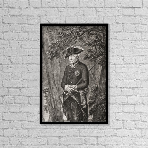 """Printscapes Wall Art: 12"""" x 18"""" Canvas Print With Black Frame - Frederick Ii, 1712 by Ken Welsh"""