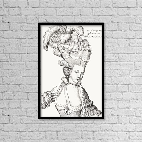 "Printscapes Wall Art: 12"" x 18"" Canvas Print With Black Frame - Paris Fashion, 1776 by Ken Welsh"