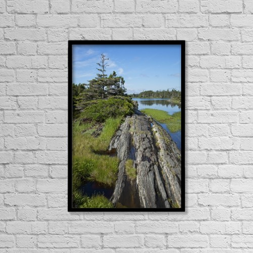 "Printscapes Wall Art: 12"" x 18"" Canvas Print With Black Frame - Coast East Of Lunenburg by Carl Bruemmer"