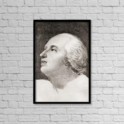 """Printscapes Wall Art: 12"""" x 18"""" Canvas Print With Black Frame - Pierre Louis Prieur (Prieur De La Marne) 1756 by Ken Welsh"""