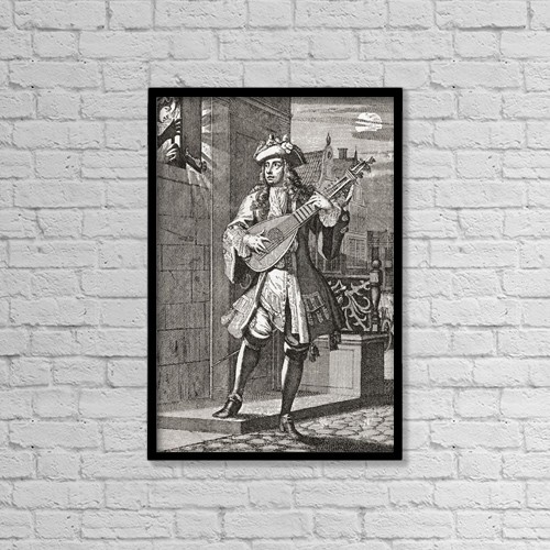 "Printscapes Wall Art: 12"" x 18"" Canvas Print With Black Frame - The Love Serenade by Ken Welsh"