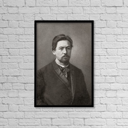 "Printscapes Wall Art: 12"" x 18"" Canvas Print With Black Frame - Anton Pavlovich Chekhov, 1860 - 1904 by Ken Welsh"