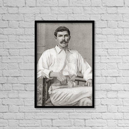 """Printscapes Wall Art: 12"""" x 18"""" Canvas Print With Black Frame - Tom Richardson, 1870 by Ken Welsh"""