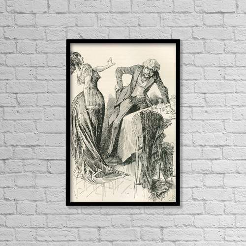 "Printscapes Wall Art: 12"" x 18"" Canvas Print With Black Frame - Edith And Mr by Ken Welsh"