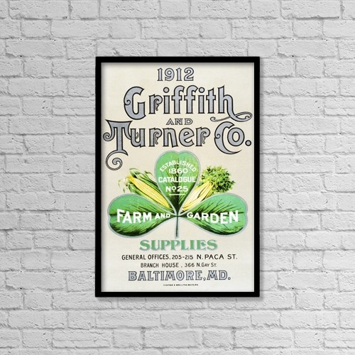 "Printscapes Wall Art: 12"" x 18"" Canvas Print With Black Frame - Historic Griffith And Turner Co by Remsberg Inc"