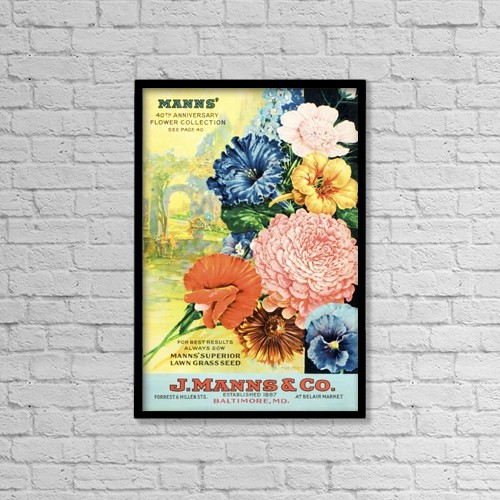 "Printscapes Wall Art: 12"" x 18"" Canvas Print With Black Frame - J by Remsberg Inc"