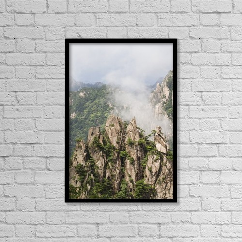"""Printscapes Wall Art: 12"""" x 18"""" Canvas Print With Black Frame - Creative Imagery by Peter Langer"""