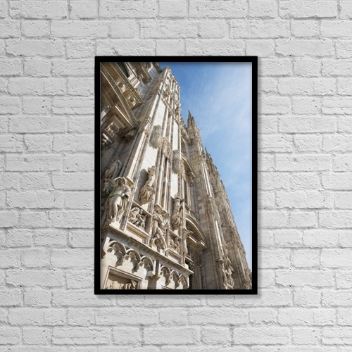 "Printscapes Wall Art: 12"" x 18"" Canvas Print With Black Frame - Milan Cathedral; Milan, Lombardy, Italy by Mats Silvan"