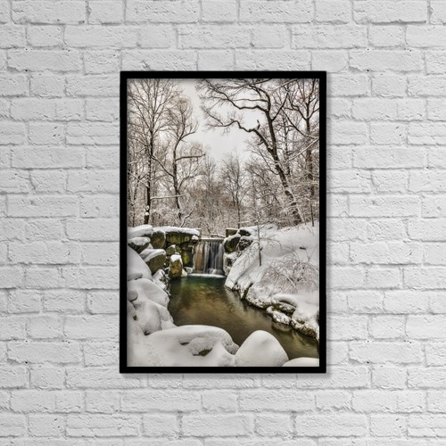"Printscapes Wall Art: 12"" x 18"" Canvas Print With Black Frame - Scenic by F. M. Kearney"