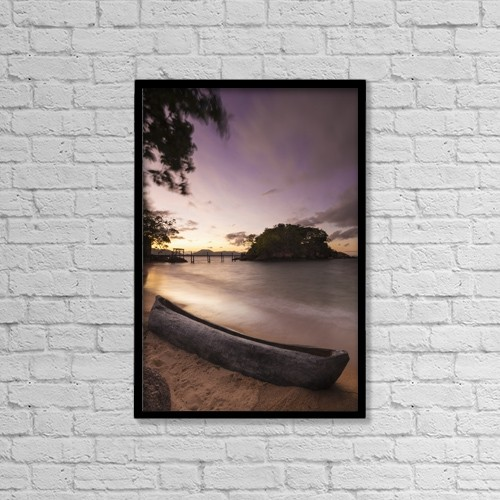 "Printscapes Wall Art: 12"" x 18"" Canvas Print With Black Frame - Nautical by Ian Cumming"