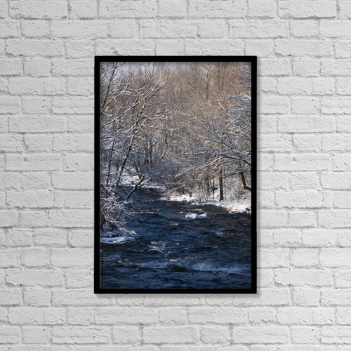 "Printscapes Wall Art: 12"" x 18"" Canvas Print With Black Frame - Scenic by David Chapman"