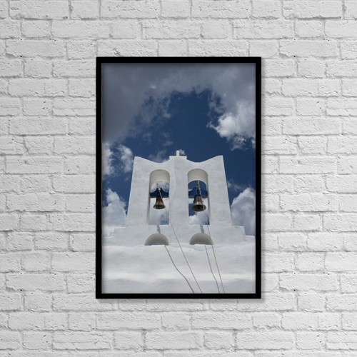 "Printscapes Wall Art: 12"" x 18"" Canvas Print With Black Frame - Architectural Exteriors by Ellen Rooney"