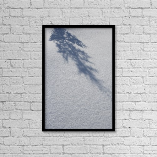 "Printscapes Wall Art: 12"" x 18"" Canvas Print With Black Frame - Weather by Anna Watson"