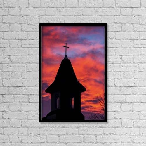 """Printscapes Wall Art: 12"""" x 18"""" Canvas Print With Black Frame - Christian Faith by Michael Interisano"""