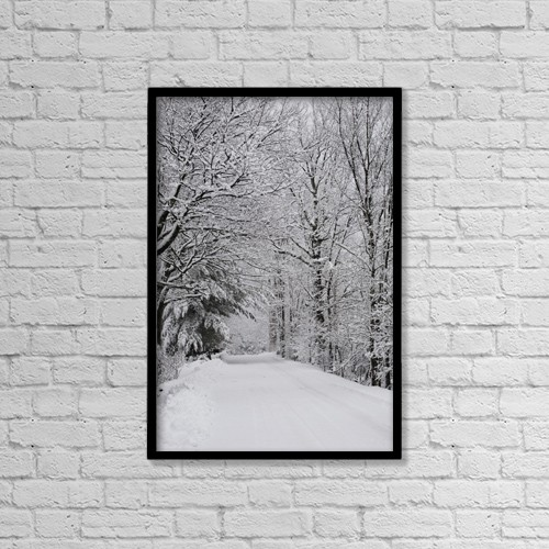 "Printscapes Wall Art: 12"" x 18"" Canvas Print With Black Frame - Roads by David Chapman"