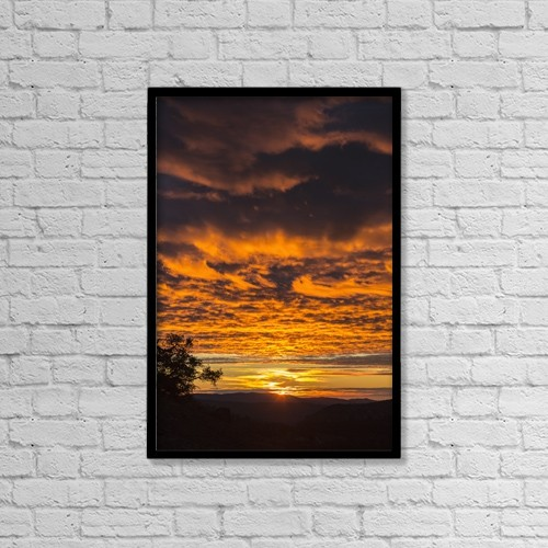 "Printscapes Wall Art: 12"" x 18"" Canvas Print With Black Frame - Scenic by Tracy Barbutes"