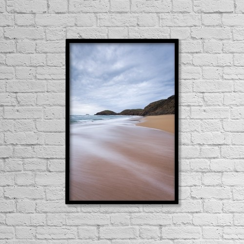 "Printscapes Wall Art: 12"" x 18"" Canvas Print With Black Frame - Waves Breaking At Murder Hole by Peter McCabe"