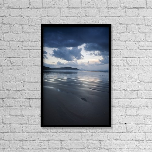 "Printscapes Wall Art: 12"" x 18"" Canvas Print With Black Frame - Tra Mor Beach, Near Dunfanaghy by Peter McCabe"