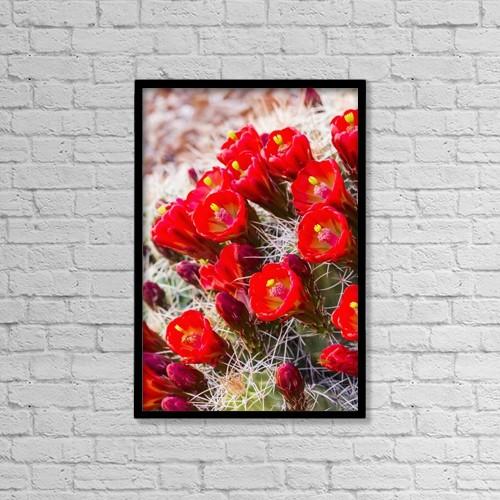 "Printscapes Wall Art: 12"" x 18"" Canvas Print With Black Frame - Flowers by Lynn Wegener"