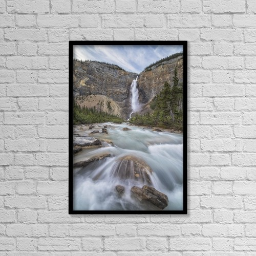 "Printscapes Wall Art: 12"" x 18"" Canvas Print With Black Frame - Takkakaw Falls, Yoho National Park by Robert Postma"