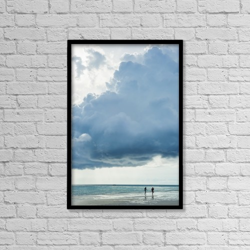 "Printscapes Wall Art: 12"" x 18"" Canvas Print With Black Frame - Boracay Beach; Panay, Philippines by Luis Martinez"
