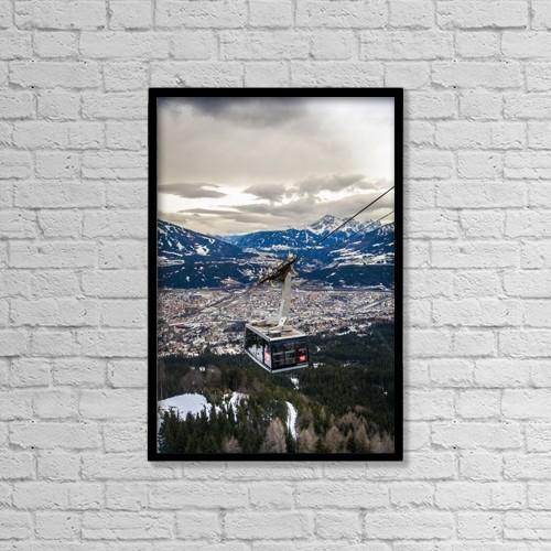 "Printscapes Wall Art: 12"" x 18"" Canvas Print With Black Frame - Travel by Carlos Sanchez Pereyra"
